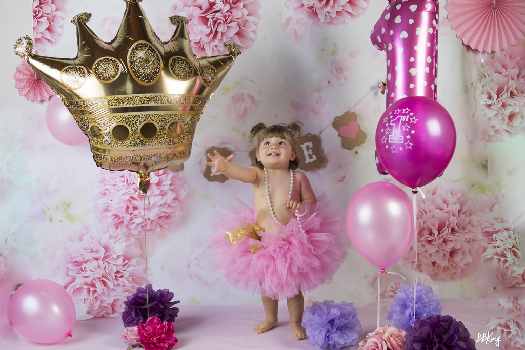 Photo en studio anniversaire bébé à saint laurent du var